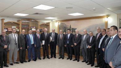 الطراونة يستقبل نقيب المحامين السوريين