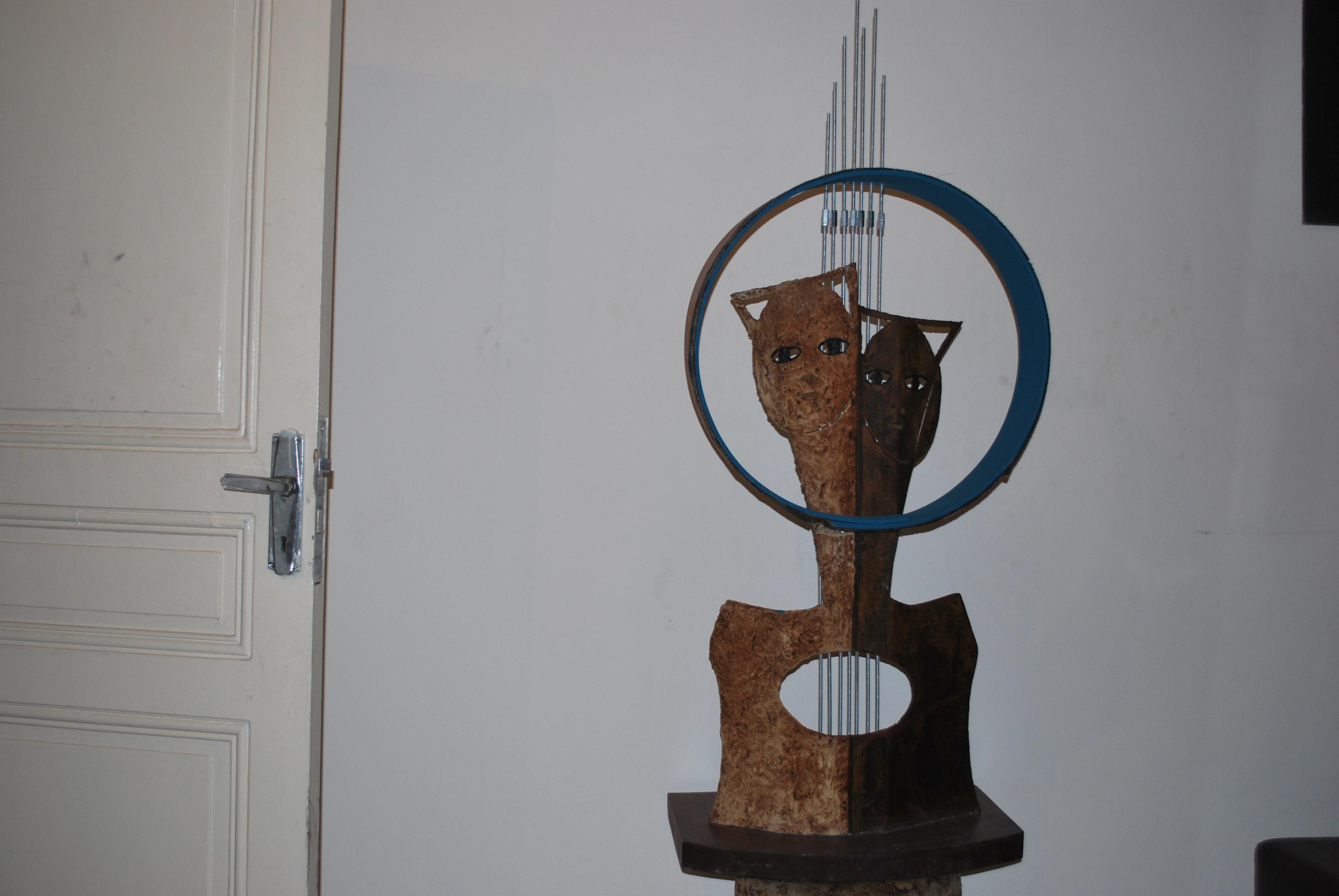 """تماثيل """"عين غزال"""" في معرض نحتي للفنان غسان مفاضلة"""