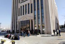 جانب من اعتصام موظفي وزارة الاتصالات اليوم -(من المصدر)