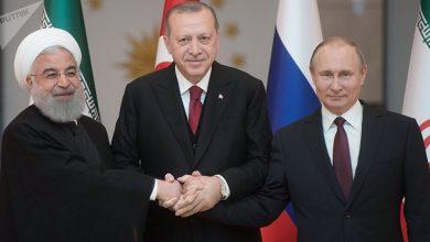 الرؤساء الروسي والإيراني والتركي