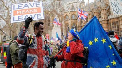 مظاهرات في بريطانيا أثناء استفتاء بريكست