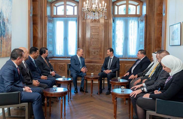 وفد نيابي أردني يلتقي الرئيس السوري بشار الأسد -(أرشيفية)