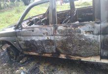 مركبة تم إحراقها خلال أحداث الشغب