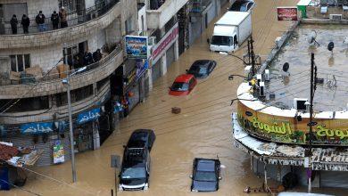 جانب من الفيضانات في وسط البلد- (أرشيفية تصوير: محمد مغايضة)