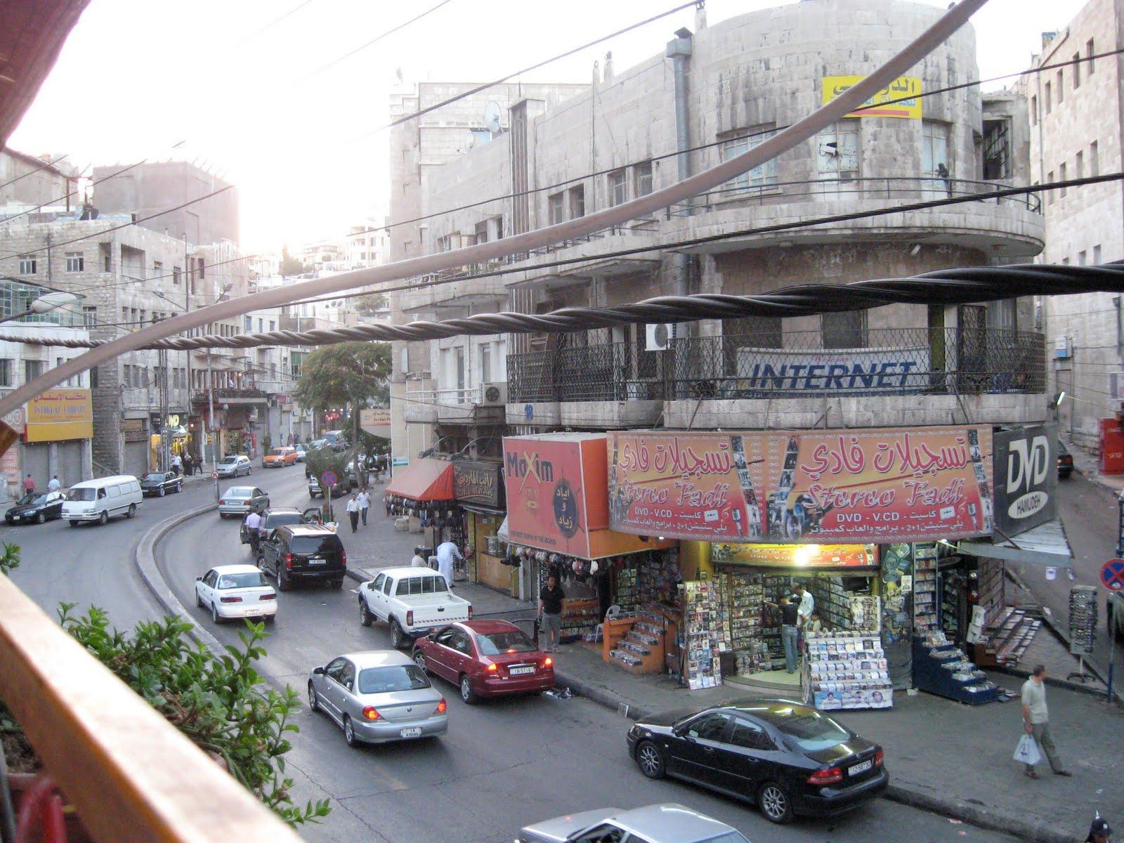 مشهد عام من منطقة وسط البلد في عمان- (أرشيفية)