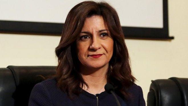 """نشرت نبيلة مكرم بيانا على صفحة وزارة الهجرة على فيسبوك أشار إلى أنها لم تقصد بتصريحاتها """"الترويج للعنف"""""""
