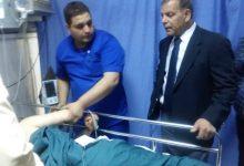 وزير الصحة يعود مصابي حادثة تسرب الغاز في وسط البلد
