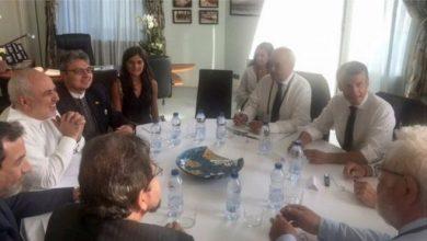 نشر وزير الخارجية الإيراني صورة لزيارته العابرة على وسائل التواصل الاجتماعي