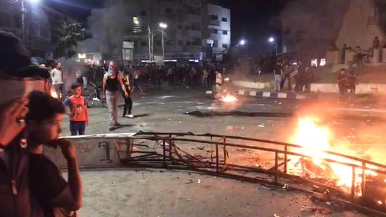 جانب من الاحتجاجات في الرمثا