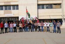 جانب من إضراب معملي مدرسة المستندة الثانوية للبنين في عمان