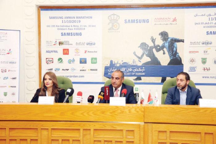 الأردنية للماراثونات  تستعرض تحضيرات  سامسونج ماراثون عمان  - Alghad
