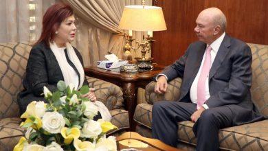 رئيس مجلس الأعيان يستقبل سفيرة جمهورية العراق لدي الاردن صفية السهيل - من المصدر