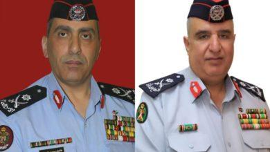 من اليمين مديرا الدفاع المدني والأمن العام السابقين