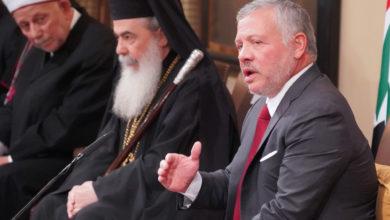 جلالة الملك عبد الله الثاني يستقبل رؤساء الكنائس