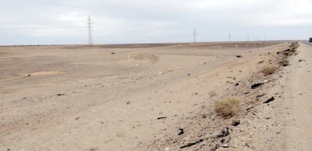 منطقة وادي العقيق التي من المفترض أن تبنى عليها مدينة معان الجديدة ما تزال خالية-(الغد)