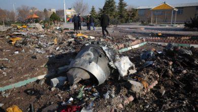 حطام الطائرة الأوكرانية الذي أسقطها الحرس الثوري الإيراني - أ ف ب