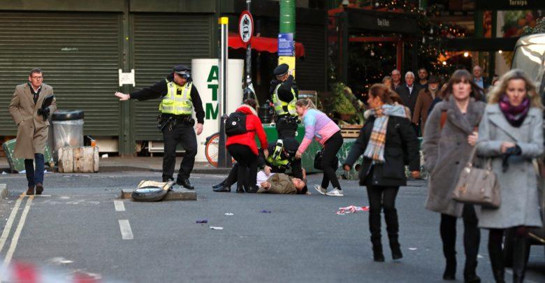 موقع الهجوم الارهابي في لندن