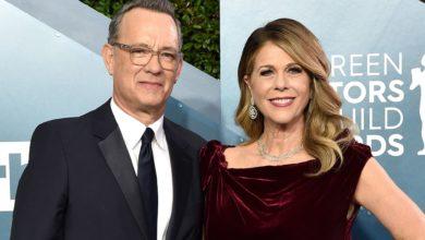 الممثل الأميركي توم هانكس وزوجته ريتا ويلسون