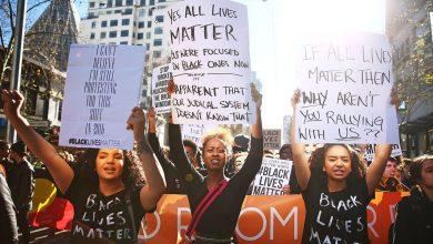 """احتجاجات حركة """"حياة السود مهمة"""". وكالات"""