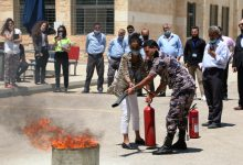ورشة تدريبية حول مكافحة الحرائق في جامعة الشرق الاوسط