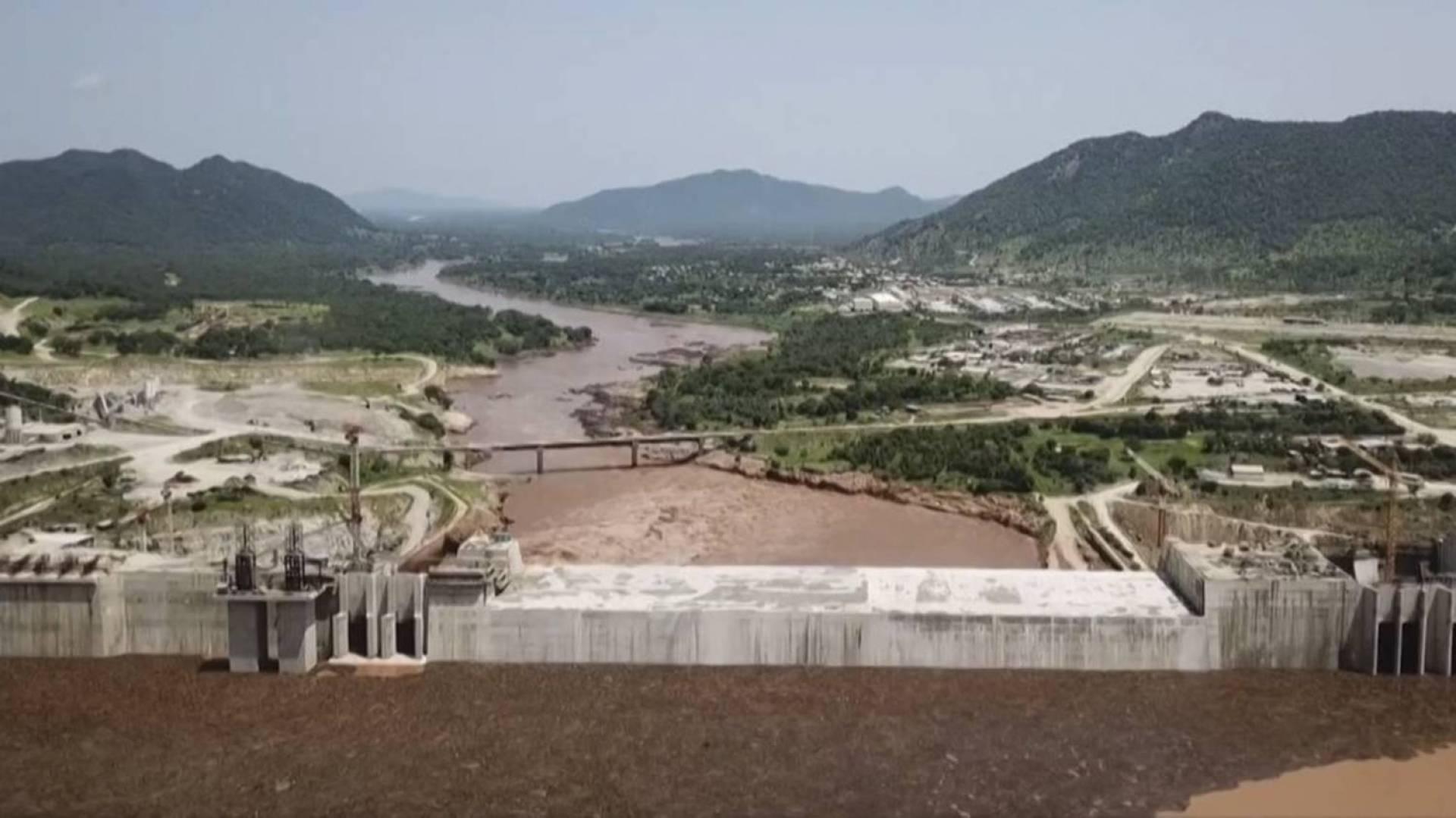 السد المنهار في ولاية النيل الازرق في السودان