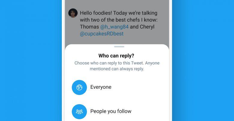 تويتر يتيح التحكم بالردود